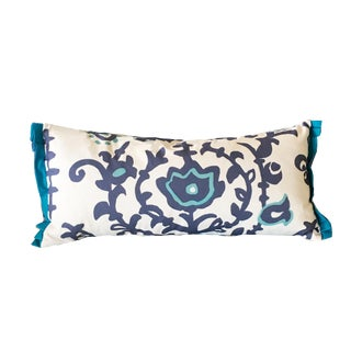 Dana Gibson Blue & White Pillow For Sale