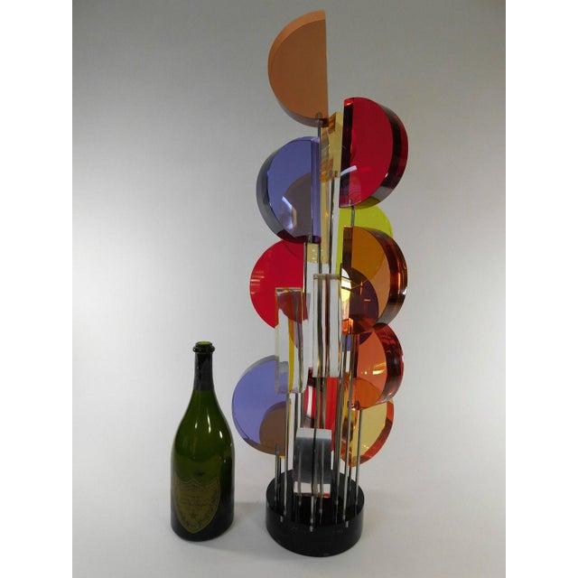 Michael George Sunburst Kinetic Lucite Sculpture - Image 3 of 10