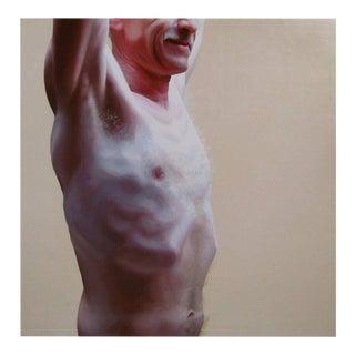 "Contemporary Photorealist Figurative Oil Painting ""Cornfed"" by Jessica Rebik For Sale"