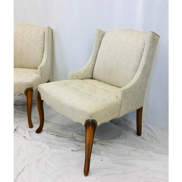 Drexel Pair Vintage French Style Side Chairs For Sale - Image 4 of 12
