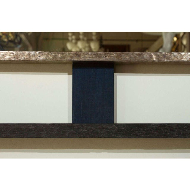 Paul Marra Paul Marra Negative Space Distressed Finish & Horsehair Mirror For Sale - Image 4 of 8