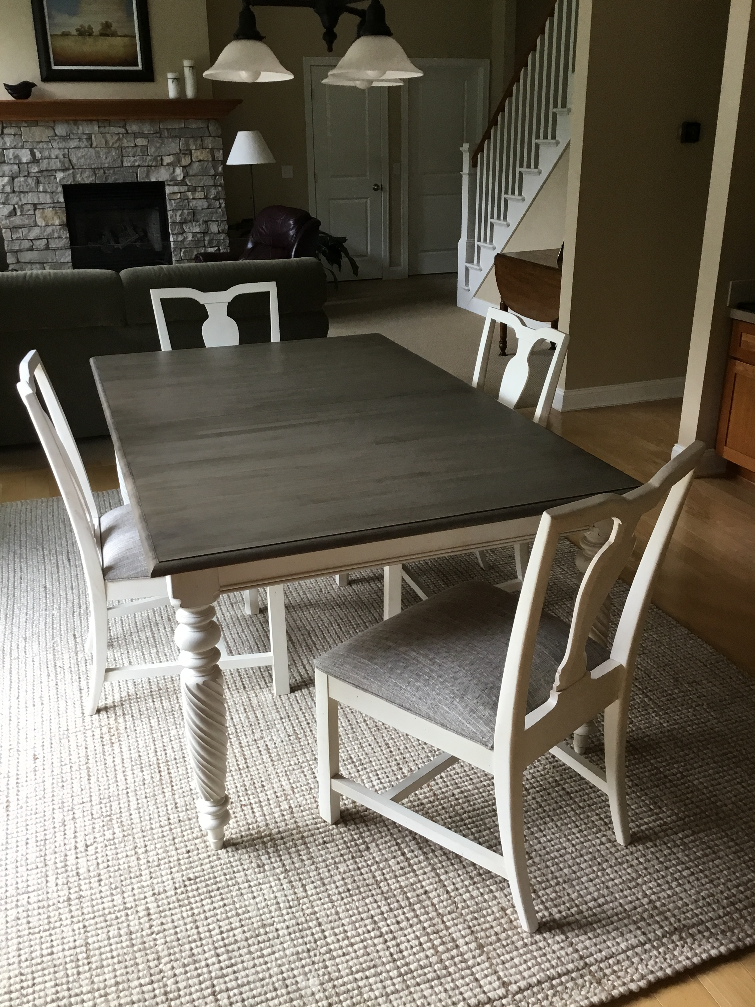 Beautiful new Ethan Allen Livingston table and 4 Maddox chairs. Set includes two leafs that  sc 1 st  Chairish & Ethan Allen Dining Table u0026 Chairs - Set of 5 | Chairish