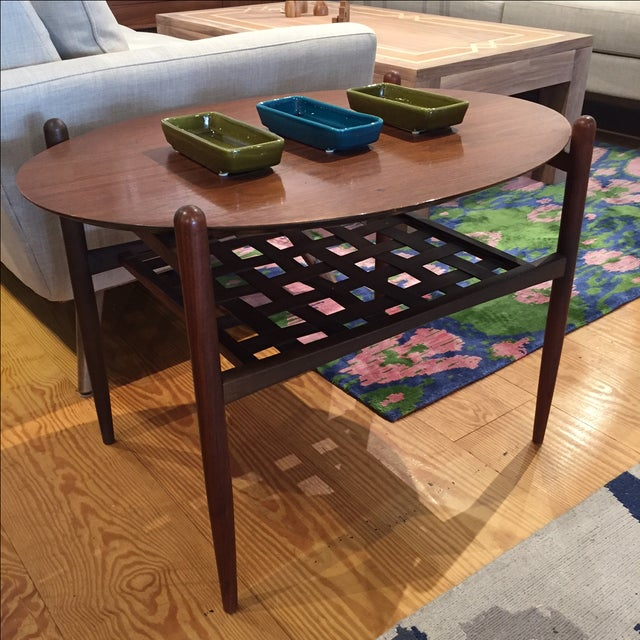 Lane Walnut Side Tables - Pair - Image 6 of 6