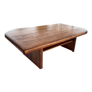 Mid-Century Modern Danish Solid Teak Teardrop Coffee Table For Sale