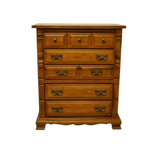 "Sumter Cabinet Co. Solid Pine Rustic Country Style 40"" Chest of Drawers For Sale"