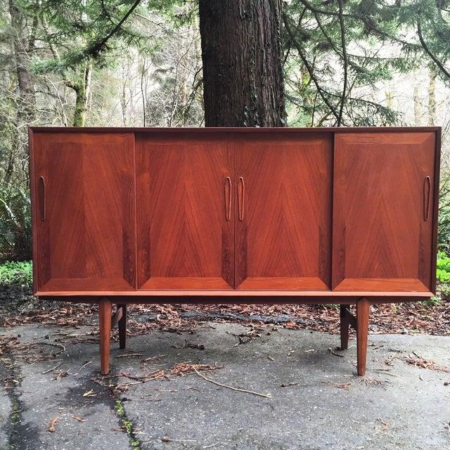 Danish Modern Teak & Rosewood Credenza - Image 2 of 11