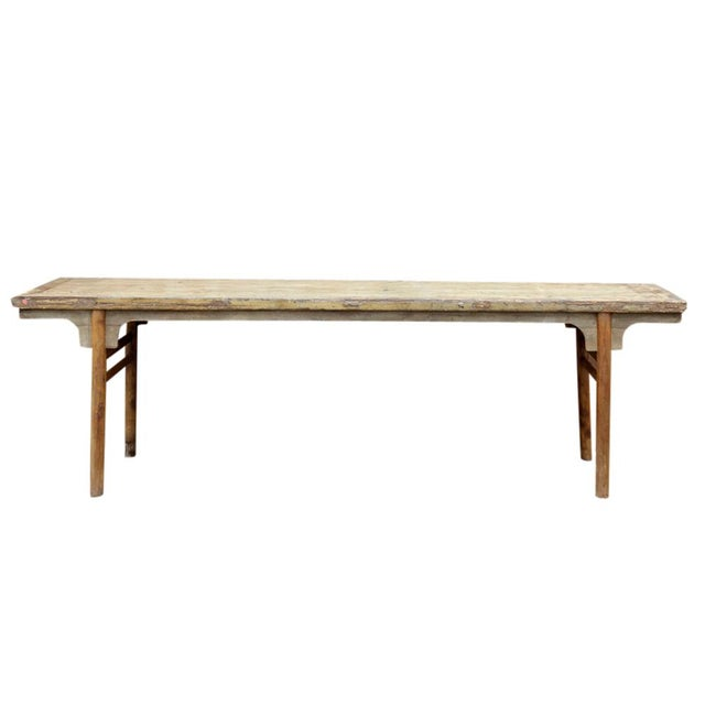 Elm Long Mid 18th Century Altar Table For Sale - Image 7 of 7