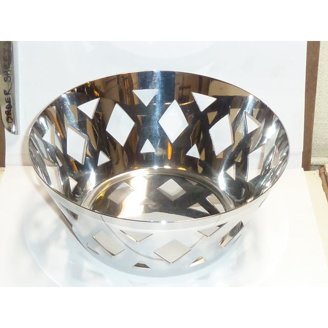 Alessi Alessi Stainless Steel Fruit Bowl For Sale - Image 4 of 7