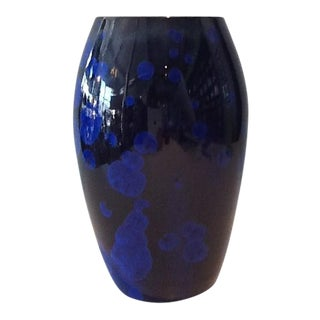 Blue Crystalline Vase by Tom Wallick