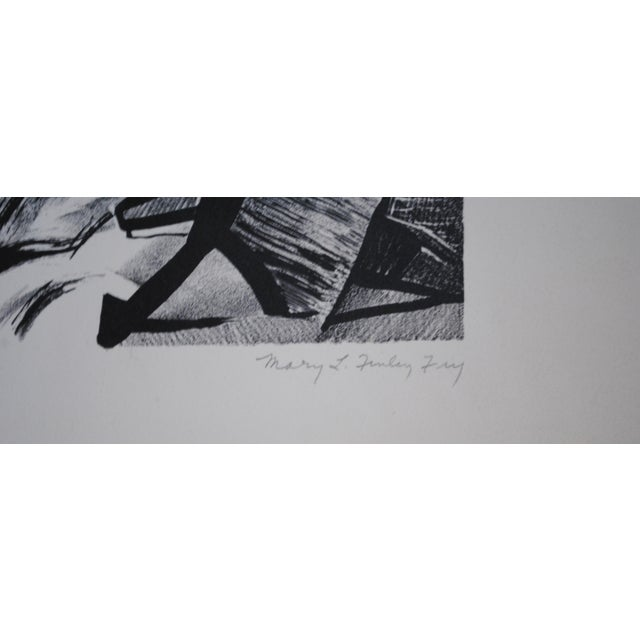 Vintage Lithograph by Mary Finley Fry For Sale - Image 4 of 4