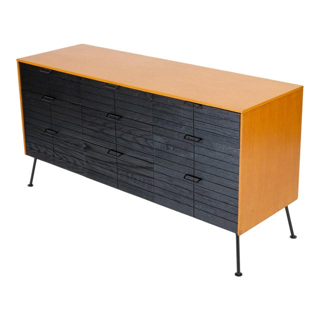 """Raymond Loewy's """"Accent"""" Line Nine-Drawer Dresser for the Mengel Company For Sale"""