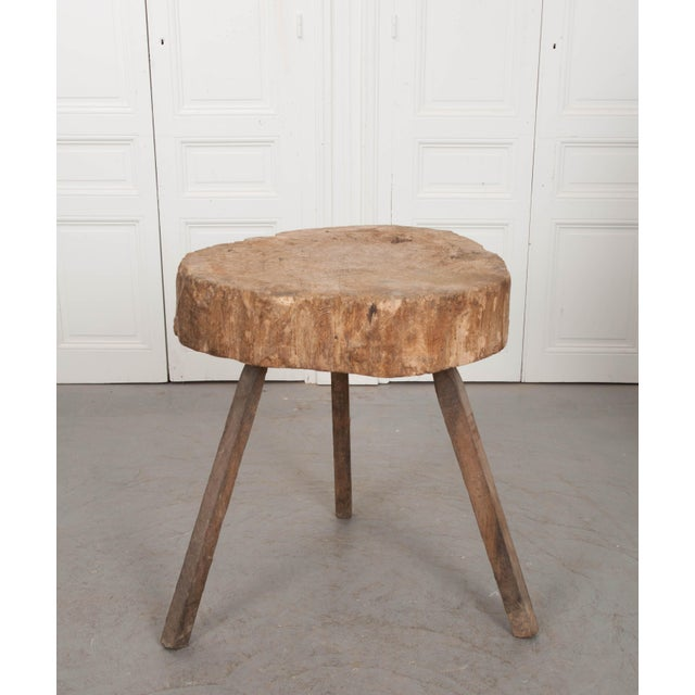 """French Provincial Mid 19th Century French 19th Century Provincial """"Tree Trunk"""" Chopping Block For Sale - Image 3 of 13"""