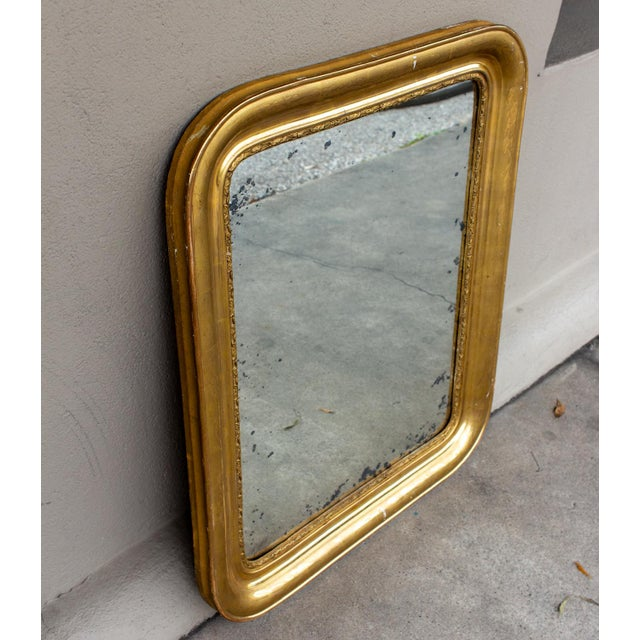 Art Nouveau Antique French Gilt Louis Philippe Mirror, Late 19th Century For Sale - Image 3 of 13