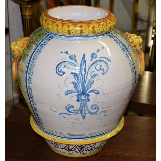 Mid 20th Century Hand Painted Portuguese Jardiniere C.1950 For Sale In San Francisco - Image 6 of 10