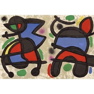 """Original Lithograph by Joan Miro From """"Derriere Le Miroir No.186 Miro: Sculptures"""" 1970 For Sale"""