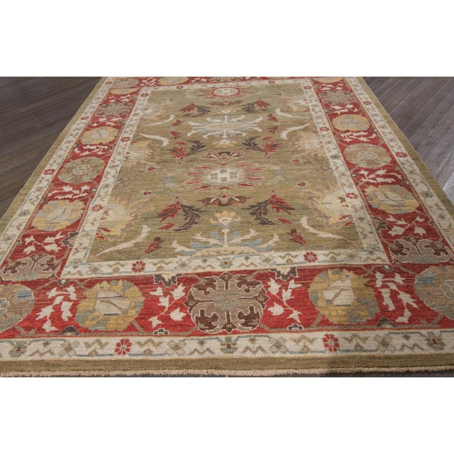 "Early 20th Century Wool Sultanabad Rug - 8' x 10'3"" For Sale - Image 5 of 9"