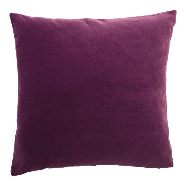 FirmaMenta Italian Solid Burgundy Velvet Pillow For Sale