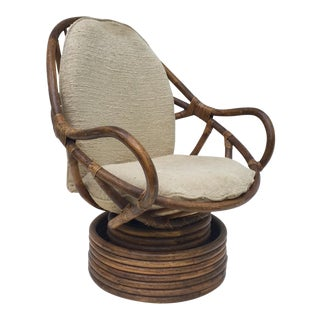 Boho Rattan Lounge Chair