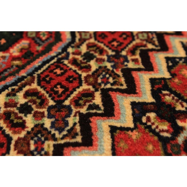 Type of Rug: Senneh Persian Kurdish Rug Country of Origin: Iran Condition: Excellent - Minor wear consistent with age and...