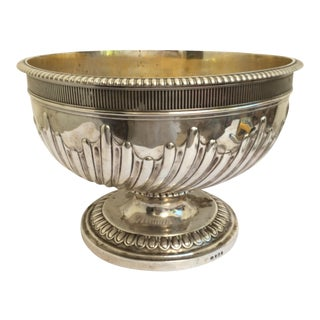 John Emes Sterling Siver Punch Bowl London 1806 For Sale