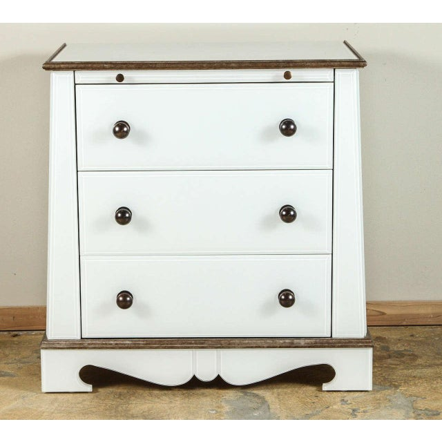Paul Marra European Style Chests in Opaline Glass, Pair - Image 2 of 6