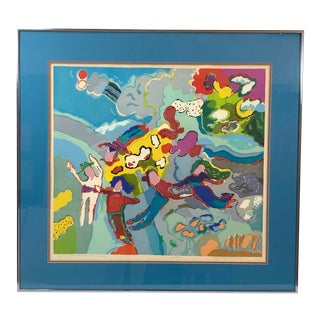 Vintage Colorful Framed Lithograph, Early in the Morning by Lynn Larson Inlow For Sale