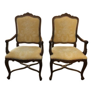 French Louis XV Style Armchairs - a Pair For Sale