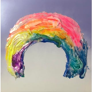 Megan Coonelly Rainbow on Violet Medium Painting For Sale
