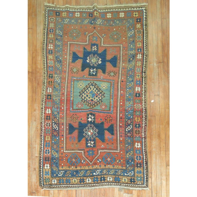 Antique Caucasian Rug, 4'6'' x 8' For Sale - Image 11 of 11