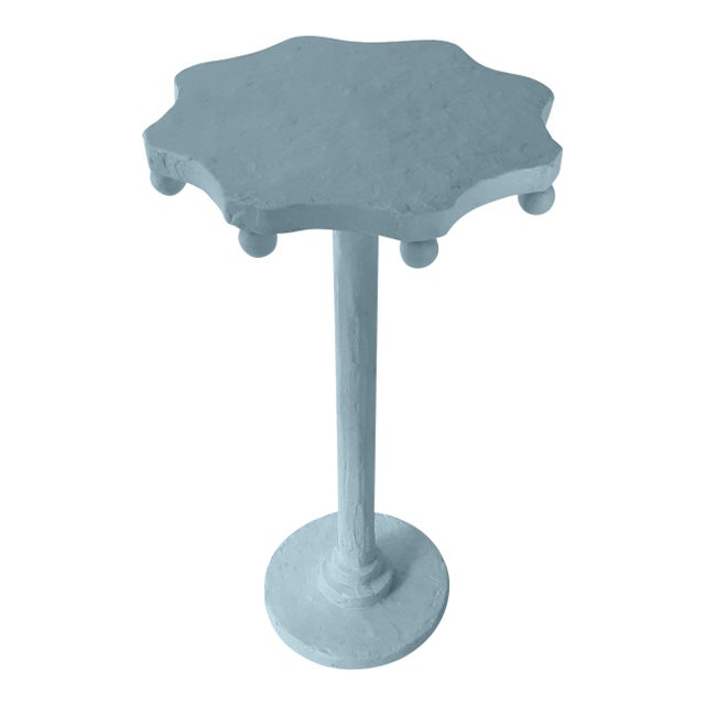 Contemporary Teatro Accent Table in Chiswell Blue For Sale - Image 3 of 3