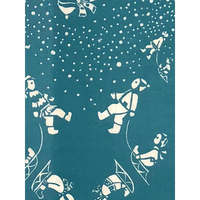 Folly Cove Designers Folly Cove Designers Snow Flurry Hand Block Print For Sale - Image 4 of 10