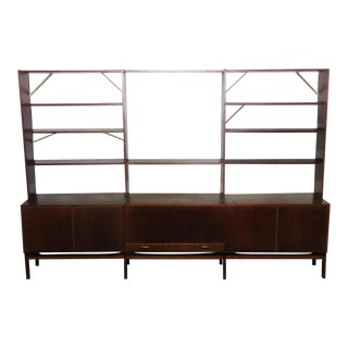 Nils Thorsson Style Mid-Century Modern Wall Unit For Sale