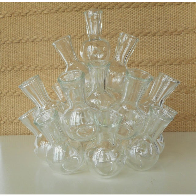 Vintage Glass Stacked Cluster Bud Vases A Pair Chairish