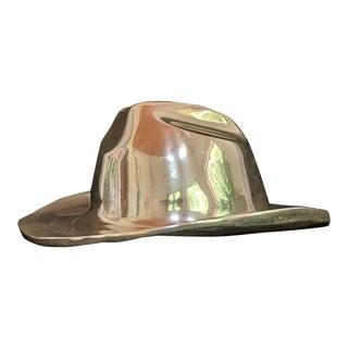 Vintage Brass Cowboy Hat For Sale