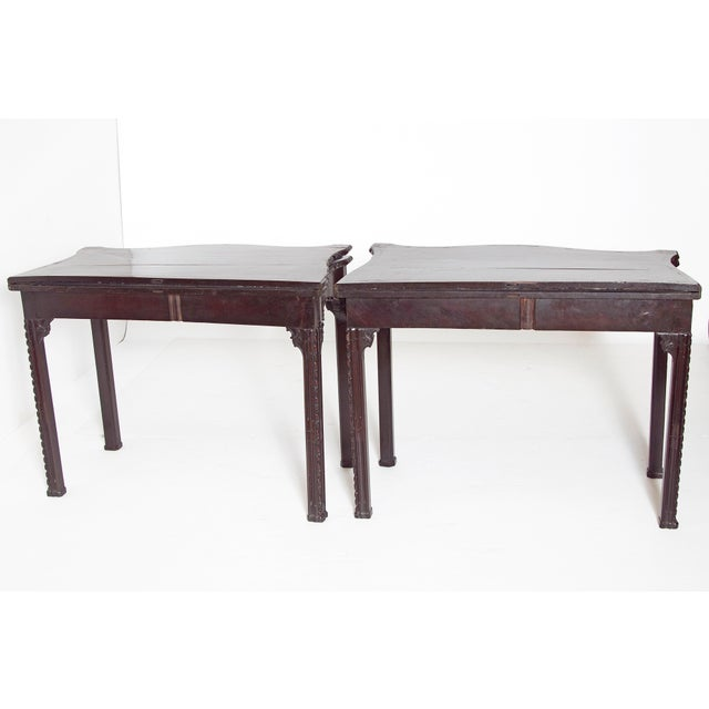 Pair of 18th Century George III Mahogany Card Tables For Sale - Image 4 of 13