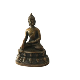 Old Bronze Earth Touching Buddha Preview