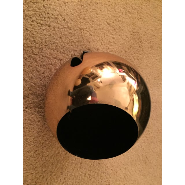 Mid-Century Lightolier Gold Orb Eye Track Light For Sale - Image 4 of 8