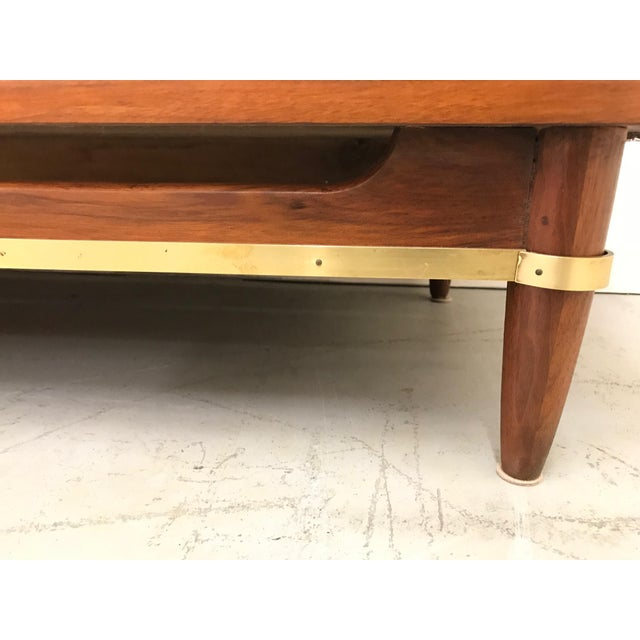 1960s Mid Century Modern American of Martinsville Walnut Credenza For Sale - Image 10 of 12