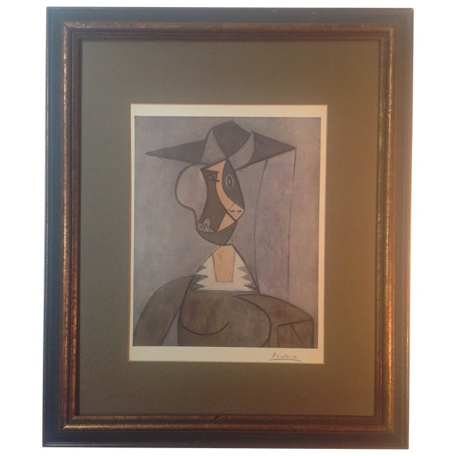Picasso Hand Signed Abstract Print - Image 1 of 4