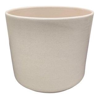 Gainey Ceramics Mid Century Modern Off White Ceramic Planter - Ac 9 For Sale