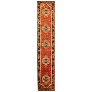 """Traditional Pasargad N Y Fine Serapi Design Hand-Knotted Rug - 2'11"""" X 14'9"""""""