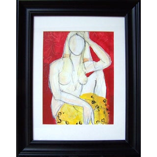 Woman in Red' Original Painting For Sale