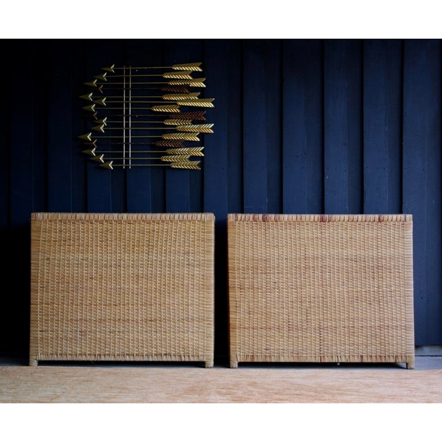 Americana Lacquered Rattan Bachelor Chest (Pair Available) For Sale - Image 3 of 13