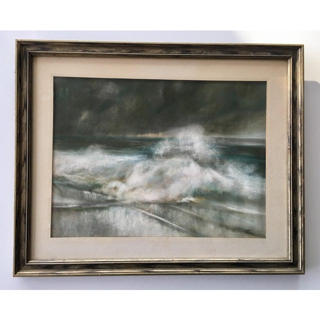 Vintage Seascape Acrylic Painting - Image 2 of 7