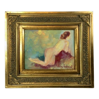 "Helen DeRamus ""Rossetta"" Female Nude Portrait Oil Painting For Sale"