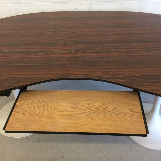 Mid Century Writing Executive Desk With Tulip Base For Sale In Richmond - Image 6 of 12