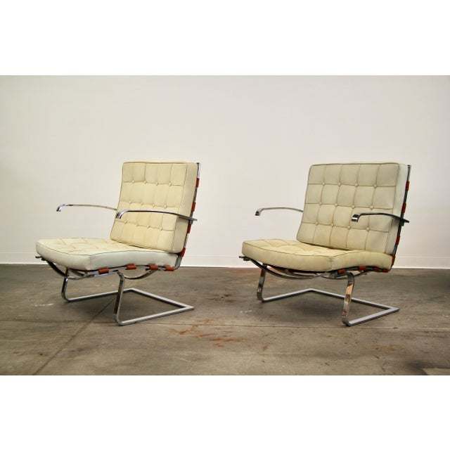 Mies Van Der Rohe and Lilly Reich Tugendhat Chairs - a Pair For Sale - Image 13 of 13
