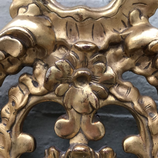 Italian Gilt Wood Mirror For Sale In Los Angeles - Image 6 of 7