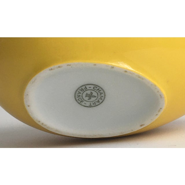 1970s Chamart Co Exclusive Limoges, France Porcelain Trinket Box, Yellow Egg For Sale In Los Angeles - Image 6 of 13