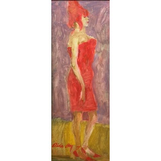 """Fry Contemporary Figure Painting """"Beehive"""" For Sale"""